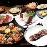 〆に豪華な『大鍋のパエリア』が味わえるコース