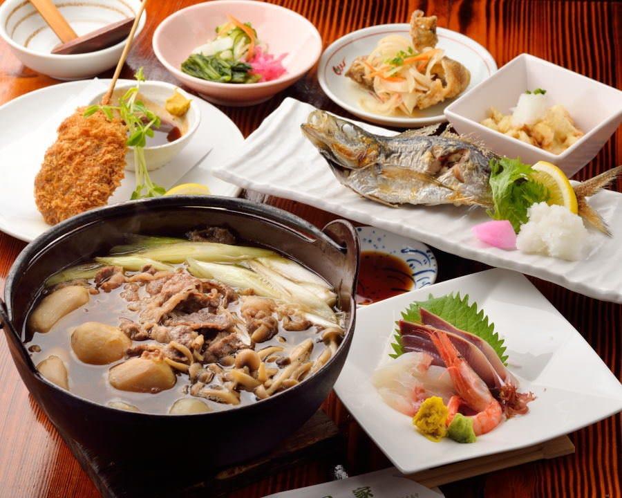 芋煮・山形牛串カツ付き宴会コース