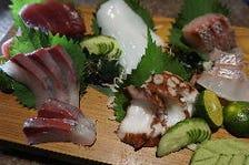 鮮魚刺身5品盛皿