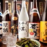 【自慢の焼酎】 日本各地の名産が勢ぞろい。