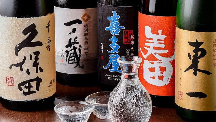 絶品料理に合う全国の日本酒をご用意