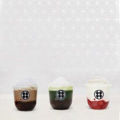 専門店が作る 黒蜜わらびもちドリンク 珈琲ミルク・お抹茶(アイス)
