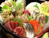 北海道函館より直送の鮮魚盛り!