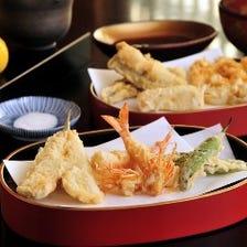 Aコース《滋味あふれる旬の野菜など11品の天ぷらがメインのコース》【全16品】 8,800円(税抜)