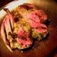 仔羊骨付き背肉のロースト 香草パン粉焼き