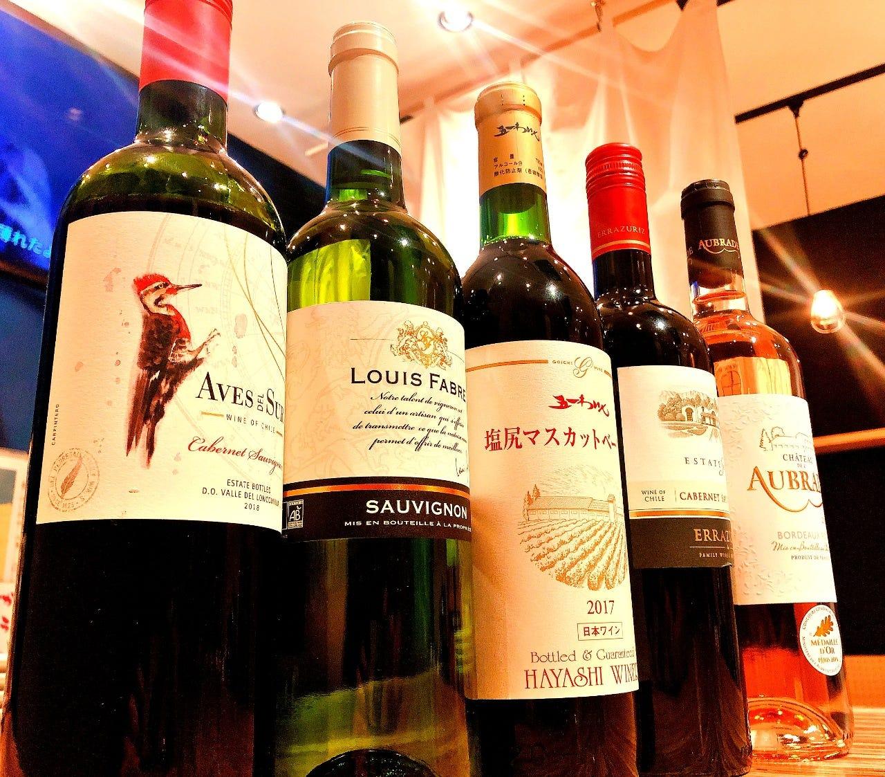 ソムリエ厳選のワインの数々!!