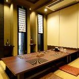 掘りごたつ個室【4名様×1部屋、6名様×2部屋】6名様用のお部屋は大人数利用も