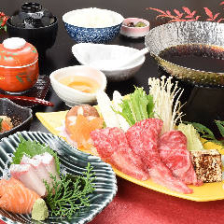 広島和牛のすき焼き御膳