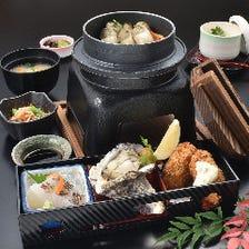 牡蠣釜飯定食