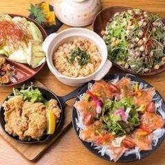 隠れ家個室 ユッケ肉寿司×野菜巻き串 菜花 ‐NABANA‐ 梅田店 コースの画像