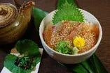 鯛のごま醤油丼   人気TOP3!