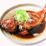 数量限定!特大金目鯛の煮付け♪自慢の和食をお楽しみください。