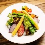 季節野菜燻製!