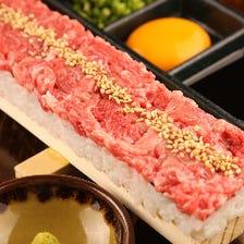 《名物60cmロングユッケ寿司を堪能コース》★3H飲放題付♪【7品/4000円⇒3500円】