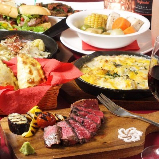 2名様より「アルハンブラ」◆料理14品+スパークリングなど100種類ゆったり3H飲み放題6500円(税込)