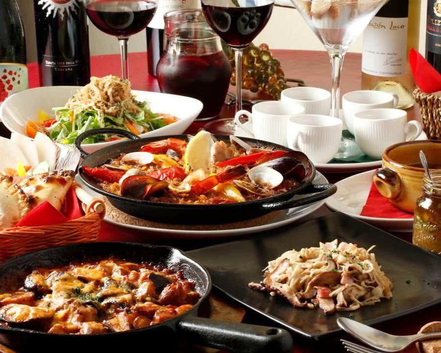 2名様より「サンセバスチャン」◆料理12品+スパークリングなど100種類2.5H飲み放題で5500円