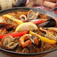 チキンと魚介のパエージャ Paella de Pollo y Mariscos