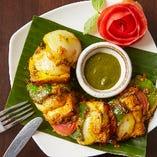 インドチーズと野菜のハーモニーを楽しめる「パニール ムスカ」