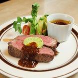 肉厚牛ステーキ+カキフライ+食後のカフェ…5,292円→2,980円