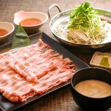 武州豚のとろろしゃぶしゃぶ鍋 歓送迎会にどうぞ♪