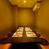 【~7名様まで】プライベートな雰囲気が嬉しい半個室は早めのご予約がオススメ◎