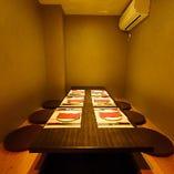 安心の半個室席は2~7名様まで!お早めにご予約下さい!