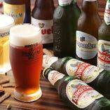 [ドリンクも豊富] 料理に合うインドビール&世界各国ビール