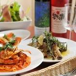 毎月変わるコースは四季感溢れる料理が並びます!