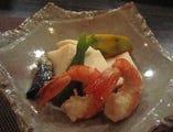 海老と野菜の炊き合わせ