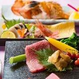近江町市場より仕入れた季節の食材を使った特別な逸品を、どうぞゆったりとお楽しみください