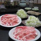 コラーゲンたっぷり!鹿児島県産黒豚とシャキシャキおねぎのしゃぶしゃぶ