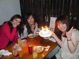 誕生日ケーキに喜んで頂きありがとうございました!