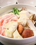 茶美豚(ちゃーみんとん)餃子鍋 (チゲ・和風ダシ・ポン酢)