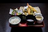 大海老と鶏の天ぷら膳