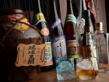 約50種類の泡盛を沖縄料理と共に♪
