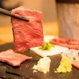 肉刺しは全部盛りで是非、食べ比べを♪