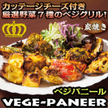 【ベジパニール】7種の野菜とカッテージチーズの炭火焼き料理