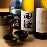 神奈川県の地酒はもちろん各地の銘酒も取り揃えています。
