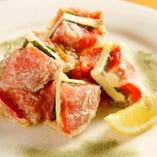 トマトとチーズのはさみ揚げ