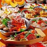 冬の時期は、寄せ鍋がメインの飲み放題付宴会コースが登場します♪