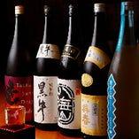 全国各地の厳選日本酒を豊富にラインナップ。