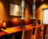 最大15名様迄利用可能な宴会席有! 半個室風の席もございます!