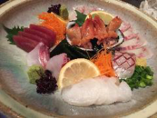 鮮魚の刺盛りが入った宴会コース!