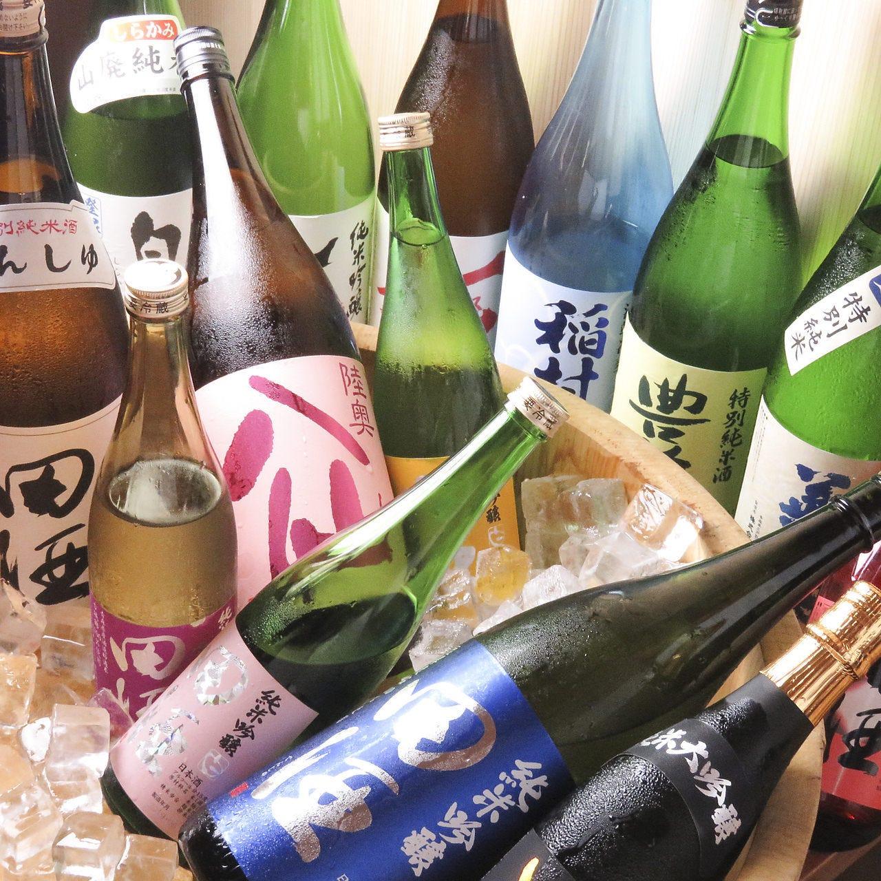 田酒の取り揃え量はエリア最大級!!