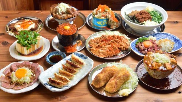 【2時間飲み放題付】限定!イクラ丼と新鮮な肉刺し5種盛りが味わえるネオ映え大衆コース 全7品