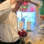 フレンチ出身のシェフが心を込めて料理します。