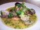 本日のお魚 一匹丸ごとグリル~バスク風アサリのソース~