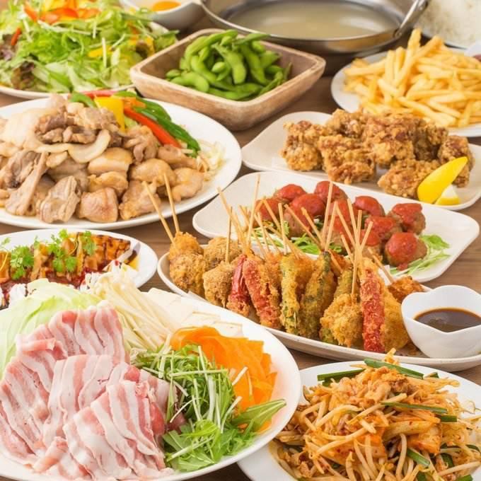池袋人気ランキング1位♪期間限定で焼肉9種類+焼鳥全60品3時間食べ飲み放題コース3000円