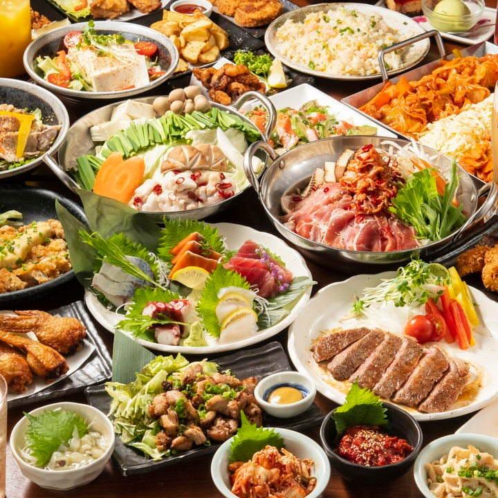 ★感謝★今だけ3種類の鍋含む10品食べ放題+ビール付3時間飲み放題チーブルコース3500円→2500円