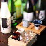 日本酒飲み比べイロハニ枡ご用意!